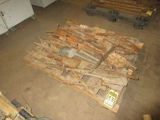 PALLET W/ ASSORTED AIR TOOL BITS, SPADE, CHISEL