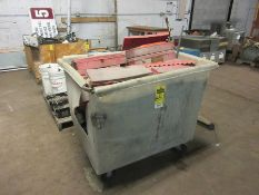 PLASTIC CART W/ EMERGENCY WARNING TRIANGLES AND OIL FILTERS