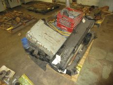 PALLET W/ ASSORTED TRUCK RADIATORS, OTHER PARTS