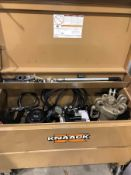 ROLLING KNAACK JOB BOX WITH OTC POWER TEAM WHICH INCLUDES CATERPILLAR 100 TON HYDRAULIC CYLINDER