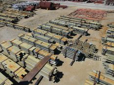 LARGE LOT OF STRUCTURAL STEEL: CONSISTS MOSTLY OF 1'' THICK OR LESS STEEL BEAMS, VARIOUS LENGTHS,