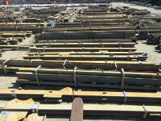 LARGE LOT OF STRUCTURAL STEEL: BEAMS, HANDRAIL, STAIRS, GIRDERS, BEAMS UP TO 534'' X 25'' X 20'' X 6