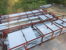 LOT OF STRUCTURAL STEEL & DUCTING: ASSORTED PIECES, CRATES UP TO 503'' X 126'' X 68'', LOCATION: