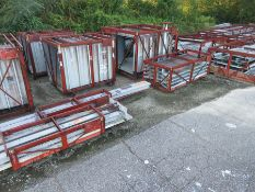 LOT OF STRUCTURAL STEEL & DUCTING: ASSORTED PIECES, BEAMS UP TO 602'' X 11'' X 10'' X 1'', DUCTING
