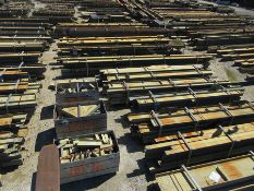 LARGE LOT OF STRUCTURAL STEEL: BEAMS, PLATE, HANDRAIL, BEAMS UP TO 534'' X 26'' X 20'' X 7'',