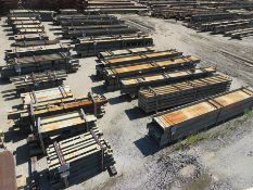 LARGE LOT OF STRUCTURAL STEEL: BEAMS, ANGLE, BEAMS UP TO 409'' X 18'' X 17'' X 3'', LOCATION: 3E