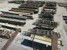 LARGE LOT OF STRUCTURAL STEEL: BEAMS, HANDRAIL, STAIRS, BEAMS UP TO 500'' X 92'' X 16'' X 1 1/2'',