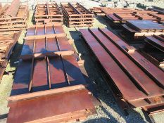 LOT OF STRUCTURAL STEEL: MAJORITY OF INDIVIDUAL PIECES WEIGH 7,000 LB., LOCATION: GRID 3EA