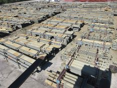 LARGE LOT OF STRUCTURAL STEEL: BEAMS, COLUMNS, BRACES, HANDRAIL, PLATE, BEAMS UP TO 588'' X 58'' X