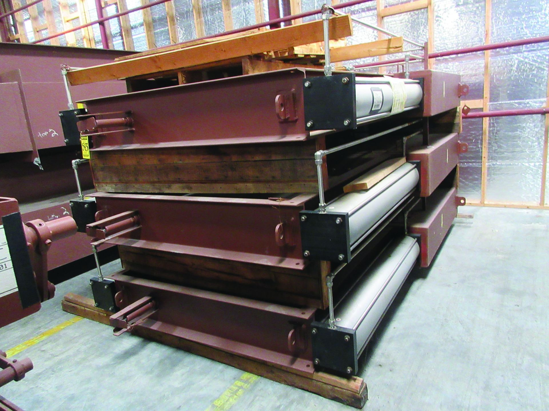 SUPPORT RODS, STEEL CHANNEL, (3) GATES, ASSORTED DAMPERS, LARGEST WEIGHING 16,250 LB., 175'' X 142'' - Image 4 of 12