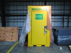 HAWS CORP. TEMPERING BOOTH/EYE WASH/SHOWER STATION, 119-GAL. WATER HEATER, PRESSURE TANK,