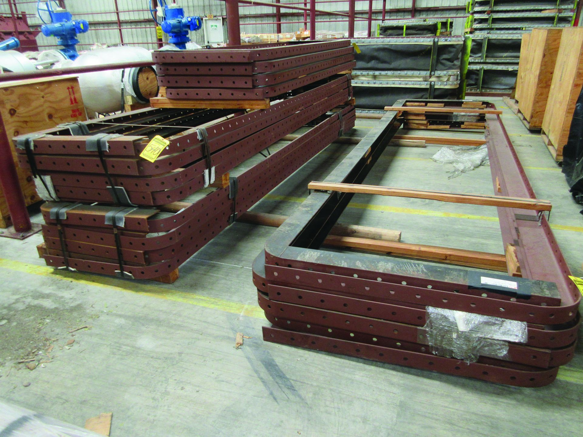 PALLET OF GAS DUCT TO AIR HEATER PRE FAB STEEL, OTHER FAB STEEL, V-BELTS, BELLOWS, GRID G8 - Image 3 of 6
