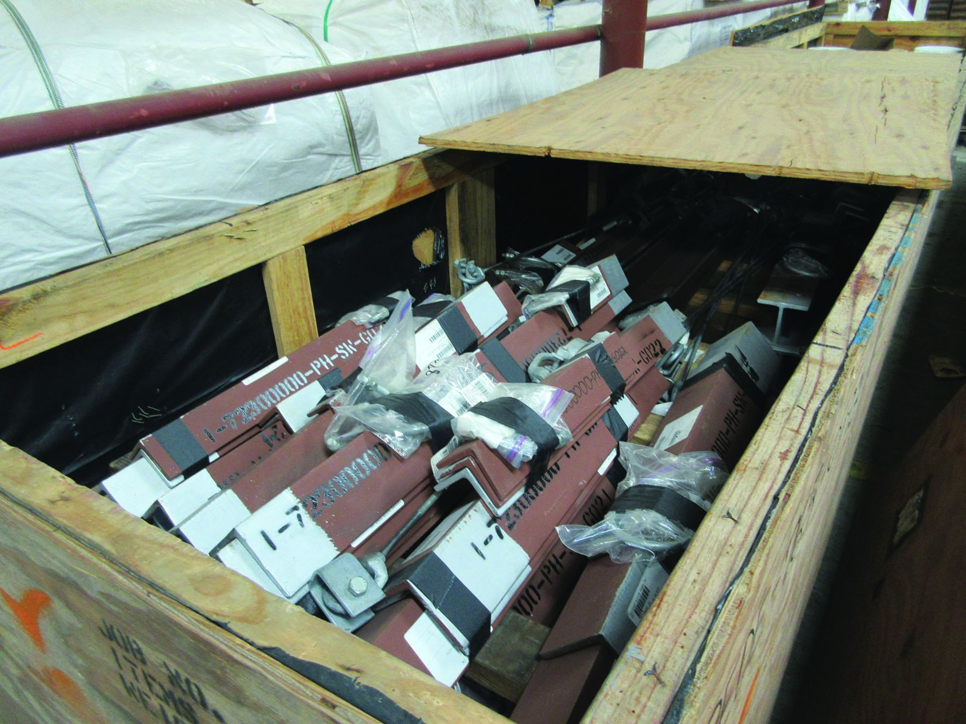 LARGE LOT OF STRUCTURAL STEEL & SPRING CANS, ANGLE IRON, PLATE BRACKETS, BRACING, GRID C5 - Image 5 of 21