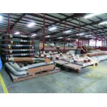 (6) SOLE PLATES, 6,685 LBS. EACH, OTHER ASSORTED SOLE PLATES, 4'' ASSORTED BUNDLE OF PIPE, ANGLE