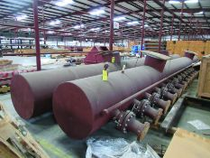 (2) 32'' X 39'' AMMONIA/AIR HEADERS & DIFF. PRESSURE INDICATOR MOUNTING PIPE, 8,600 LB EACH, ALSO