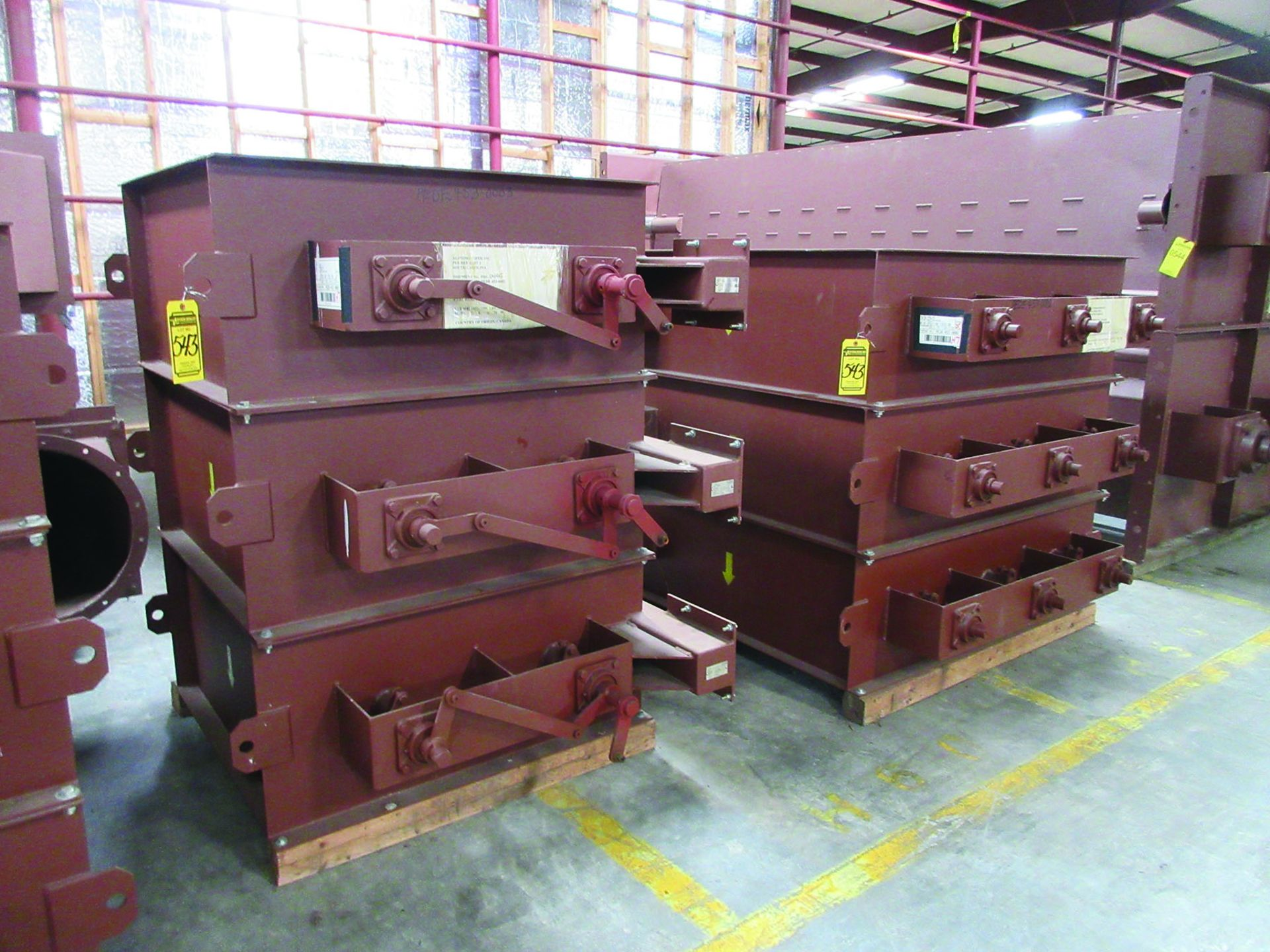 SUPPORT RODS, STEEL CHANNEL, (3) GATES, ASSORTED DAMPERS, LARGEST WEIGHING 16,250 LB., 175'' X 142'' - Image 3 of 12