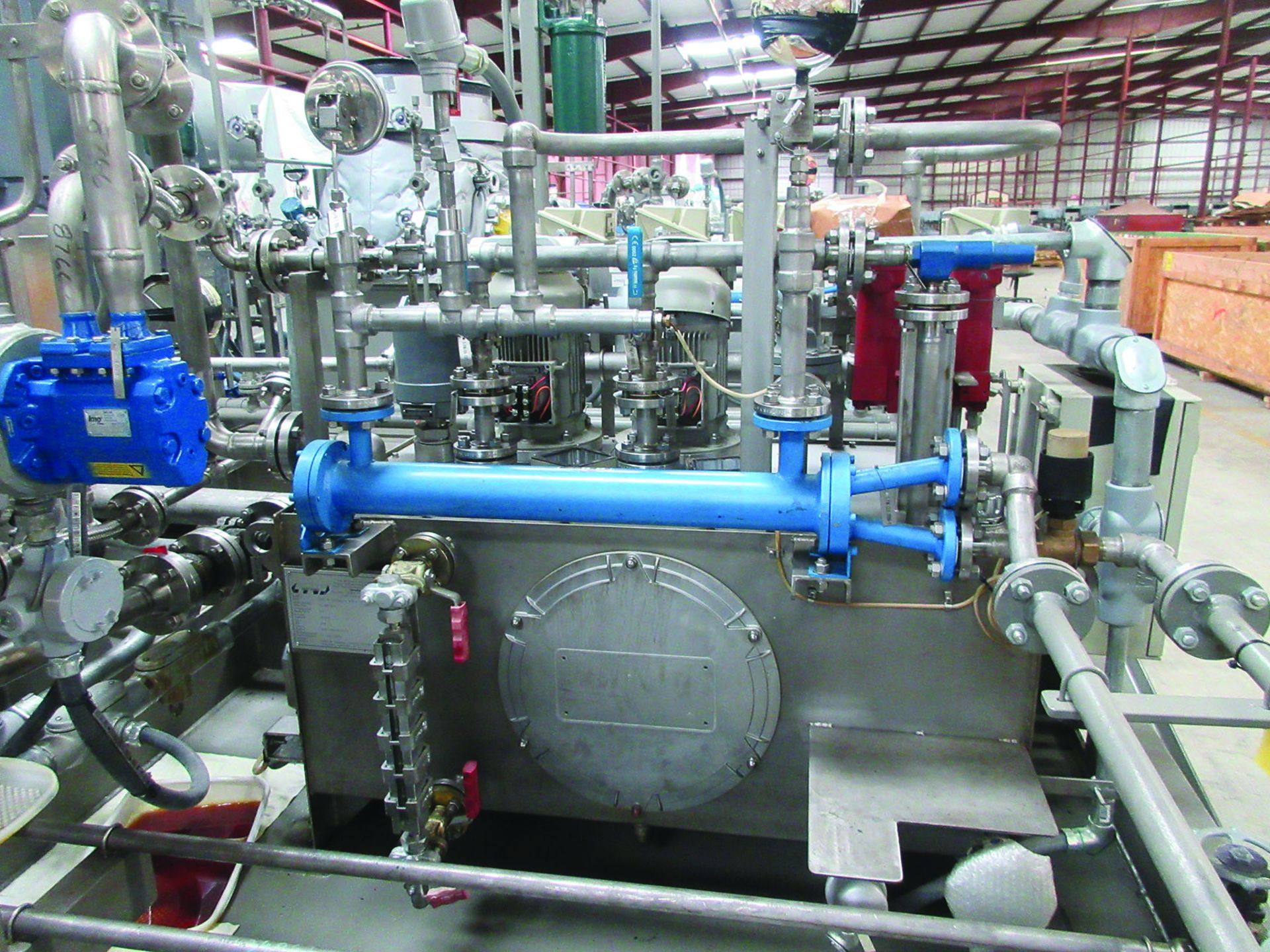 BOILER FEEDWATER BOOSTER PUMP SLED, GE 3,000 HP INDUCTION MOTOR 3585 RPM, 6600 VOLTS, 8313S FRAME, - Image 4 of 11
