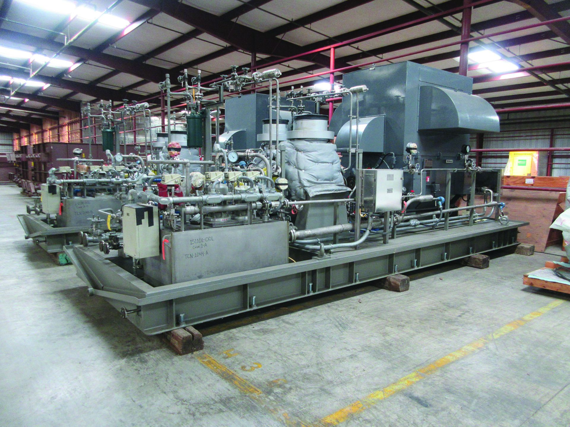 BOILER FEEDWATER BOOSTER PUMP SLED, GE 3,000 HP INDUCTION MOTOR 3585 RPM, 6600 VOLTS, 8313S FRAME, - Image 2 of 13