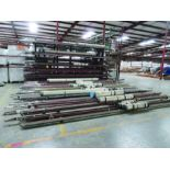 CANTILEVER RACK W/CONTENT: 120'' X 48'' X 202'', BUNDLES OF PIPE; 3/4'', 1'', 1 1/2'', 2'', MOST