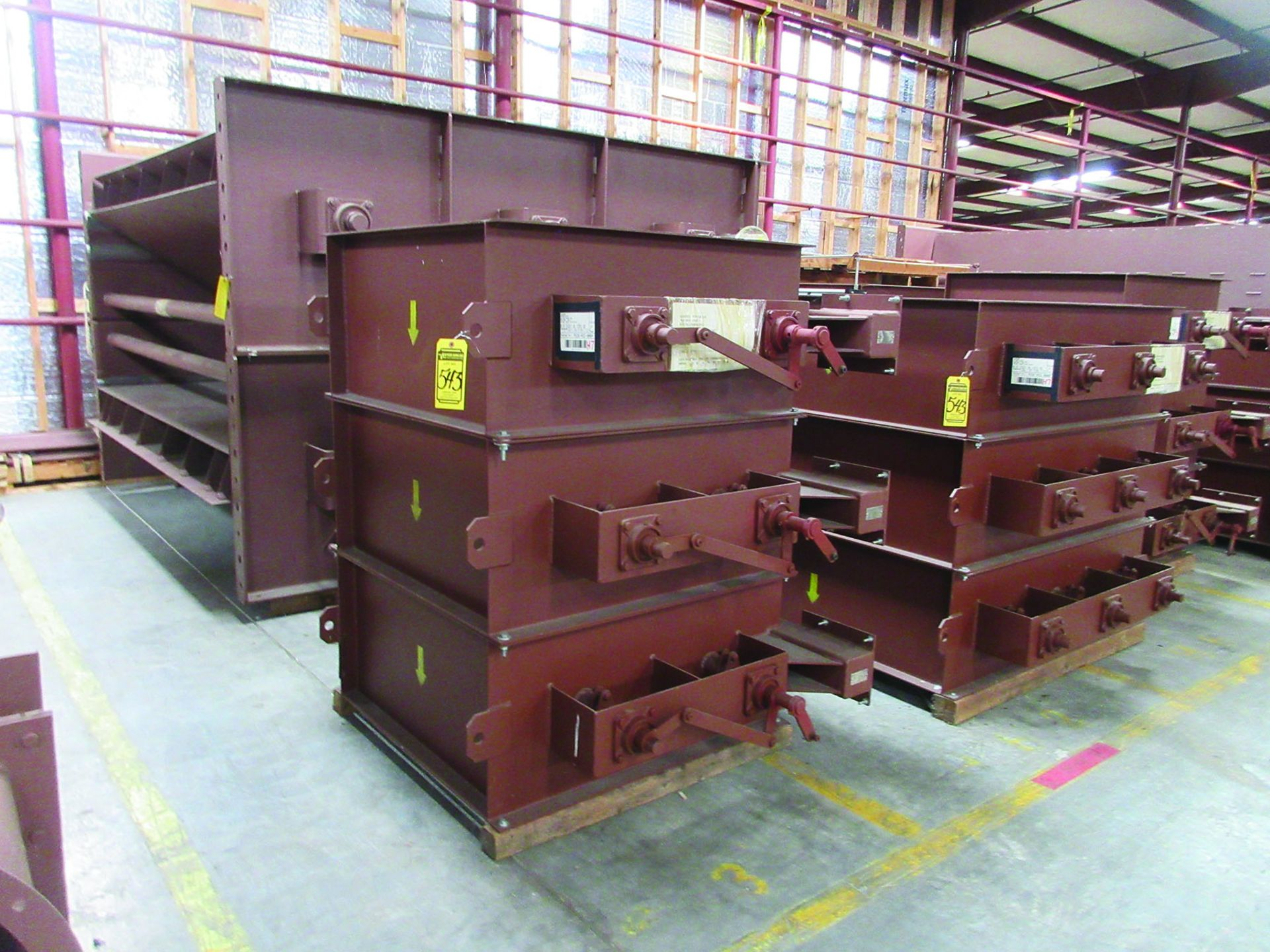 SUPPORT RODS, STEEL CHANNEL, (3) GATES, ASSORTED DAMPERS, LARGEST WEIGHING 16,250 LB., 175'' X 142'' - Image 2 of 12