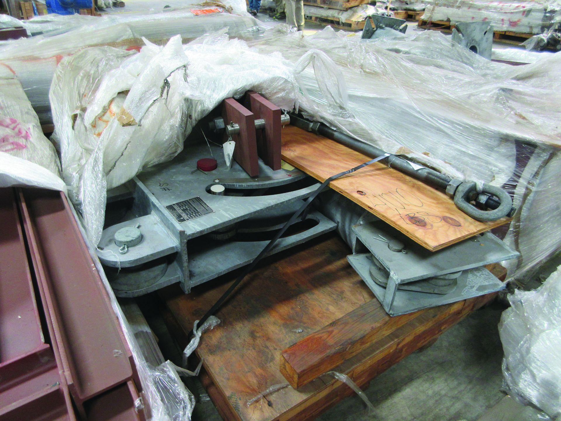 ASSORTED STEEL: PLATES, BEAMS, ROOF/SIDING SUPER RIB CLOSURES, BRACKETS, SPRING CANS, STEEL BRACING, - Image 13 of 16