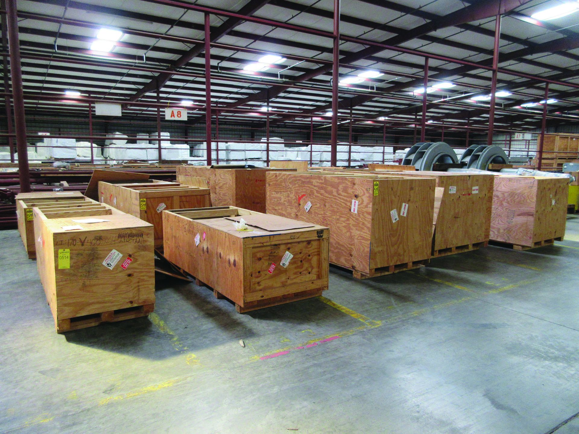 (10) CRATES CONTAINING: (4) 6'' VALVE ASSEMBLIES, (1) 3'' VALVE ASSEMBLY, (1) 8'' VALVE ASSEMBLY, (