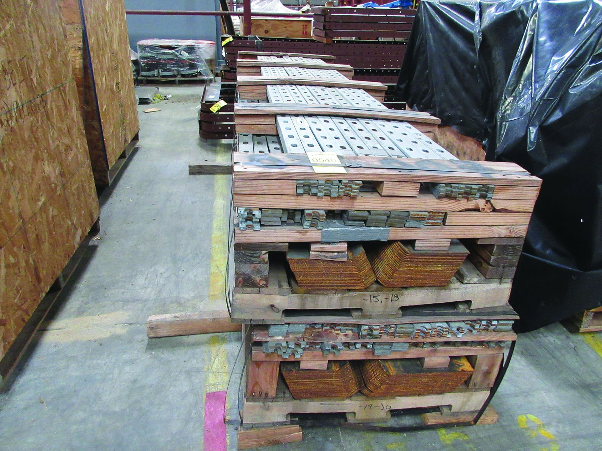 PALLET OF GAS DUCT TO AIR HEATER PRE FAB STEEL, OTHER FAB STEEL, V-BELTS, BELLOWS, GRID G8 - Image 2 of 6