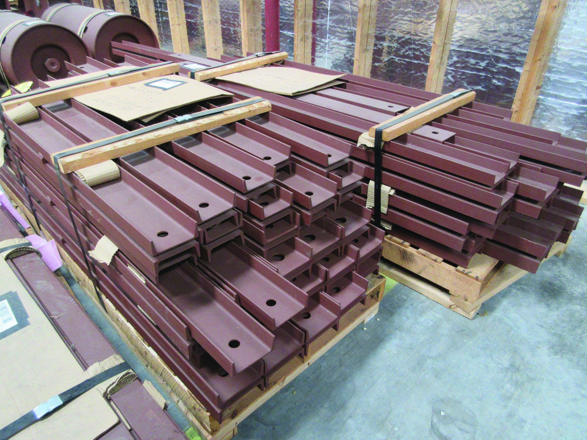 SUPPORT RODS, STEEL CHANNEL, (3) GATES, ASSORTED DAMPERS, LARGEST WEIGHING 16,250 LB., 175'' X 142'' - Image 11 of 12