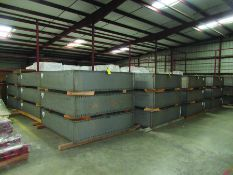 (36) STEEL BOX 78'' X 72'' X 18'', 2,095 LBS. EACH, GRIDS C7 & C8