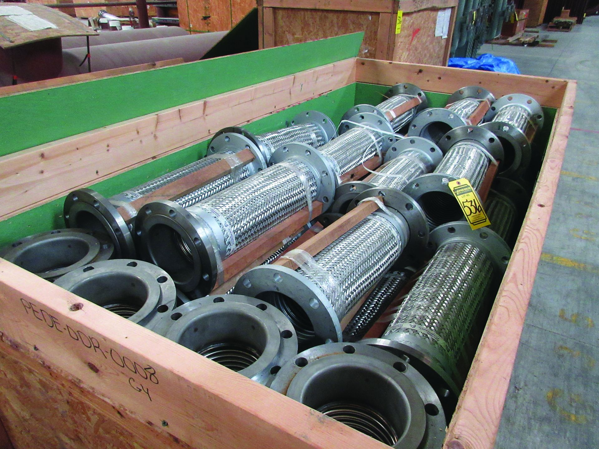 (2) 32'' X 39'' AMMONIA/AIR HEADERS & DIFF. PRESSURE INDICATOR MOUNTING PIPE, 8,600 LB EACH, ALSO - Image 5 of 9