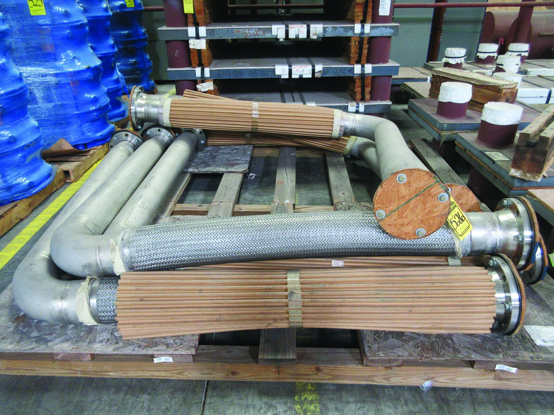 (6) SOLE PLATES, 6,685 LBS. EACH, OTHER ASSORTED SOLE PLATES, 4'' ASSORTED BUNDLE OF PIPE, ANGLE - Image 3 of 14