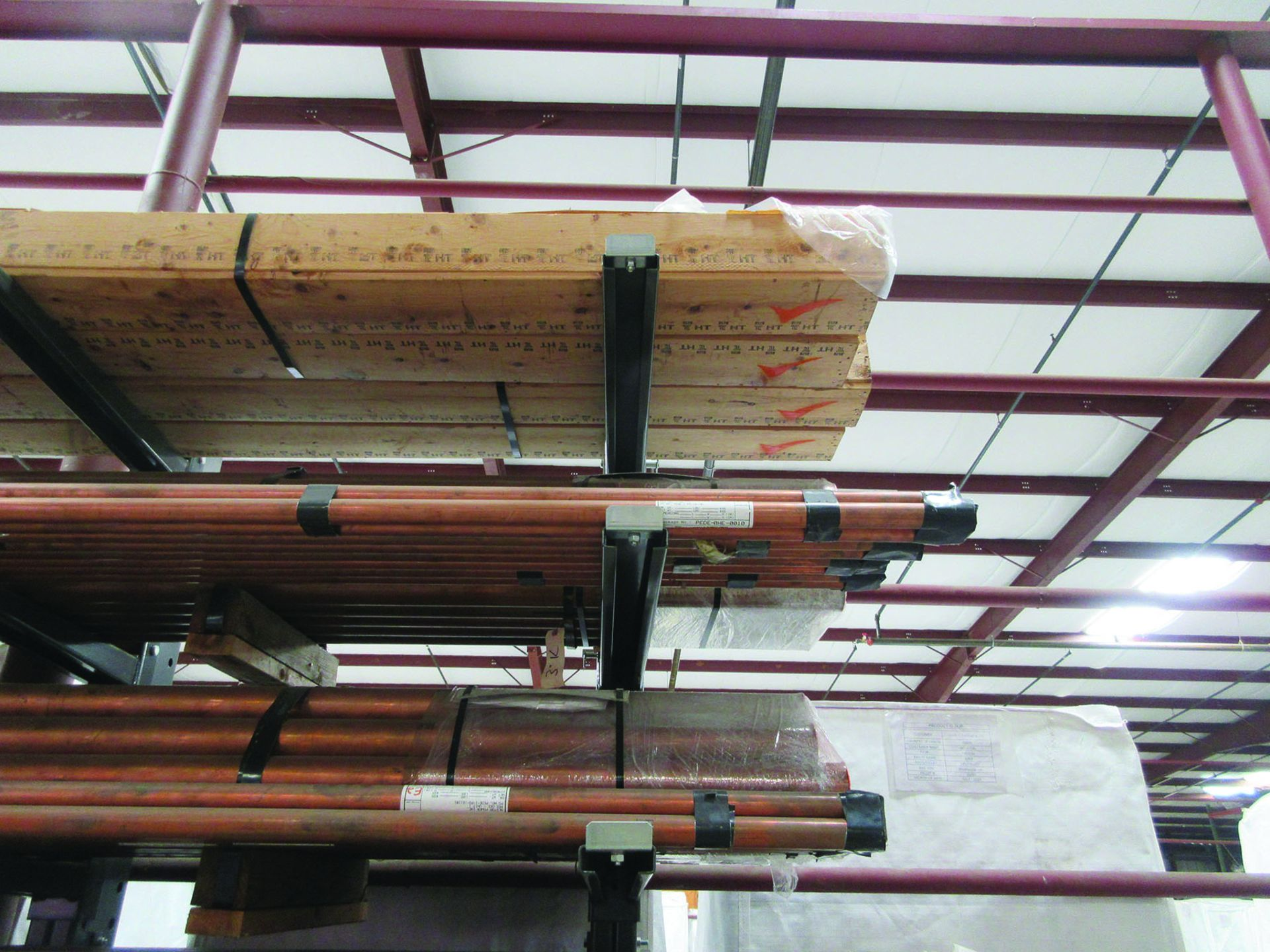 CANTILEVER RACK W/ CONTENT: 120'' X 48'' X 202'', BUNDLES OF COPPER PIPE; LARGER BUNDLES WEIGH 1, - Image 13 of 13