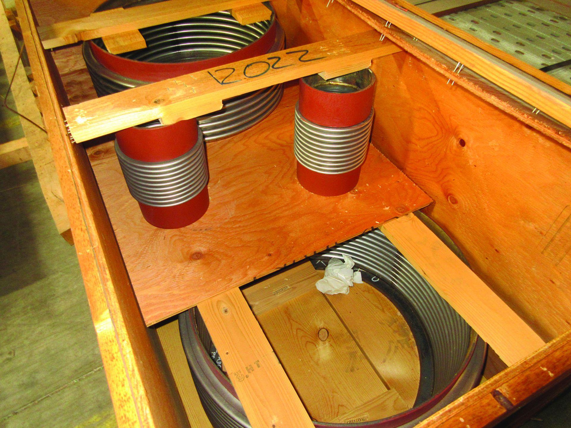 (8) NITROGEN FILLED RADIATORS, 5,000 LB EACH, DIMENSIONS 200'' X 80'' X 26'', (5) EXPANSION - Image 6 of 7