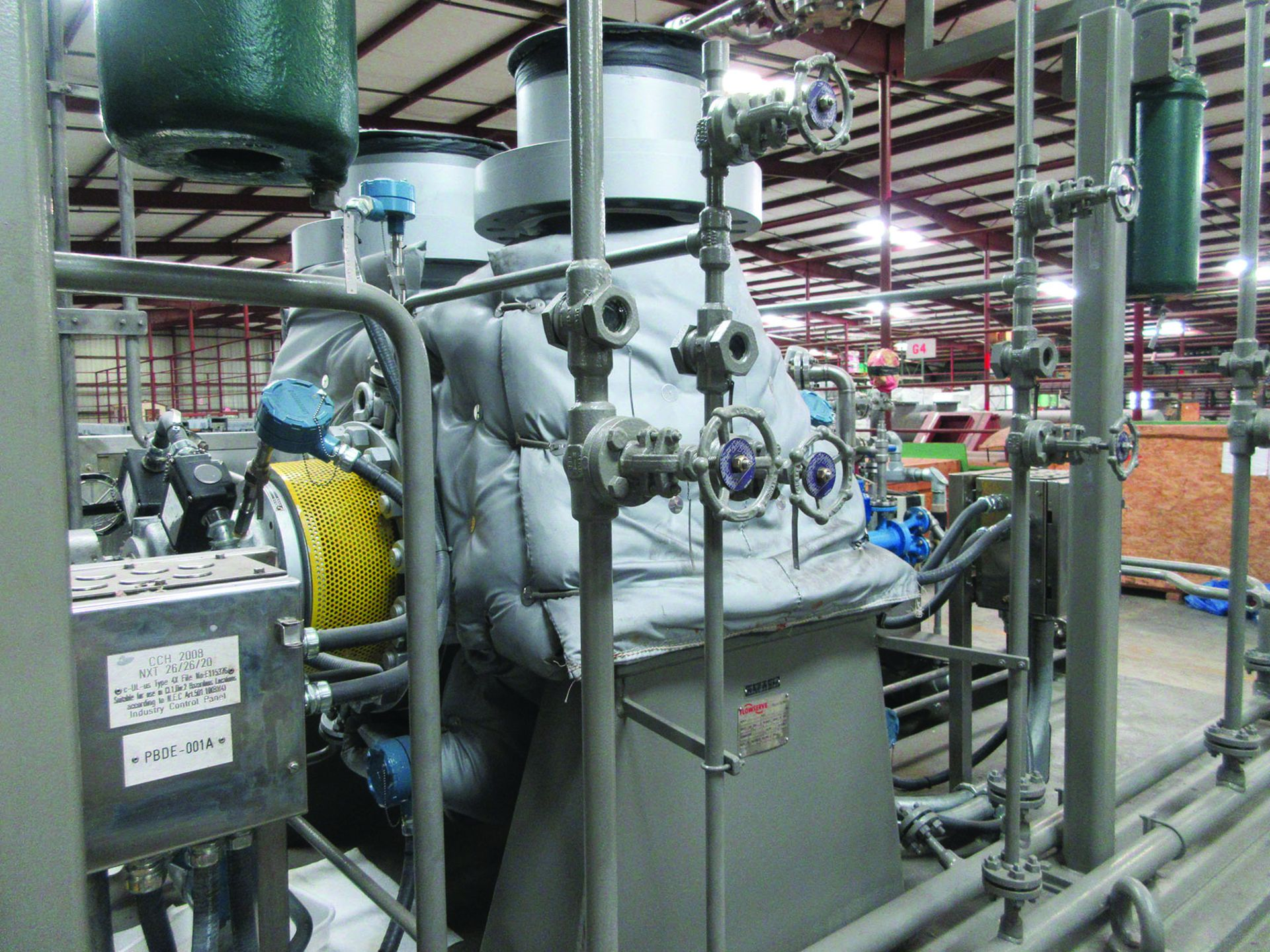 BOILER FEEDWATER BOOSTER PUMP SLED, GE 3,000 HP INDUCTION MOTOR 3585 RPM, 6600 VOLTS, 8313S FRAME, - Image 7 of 13