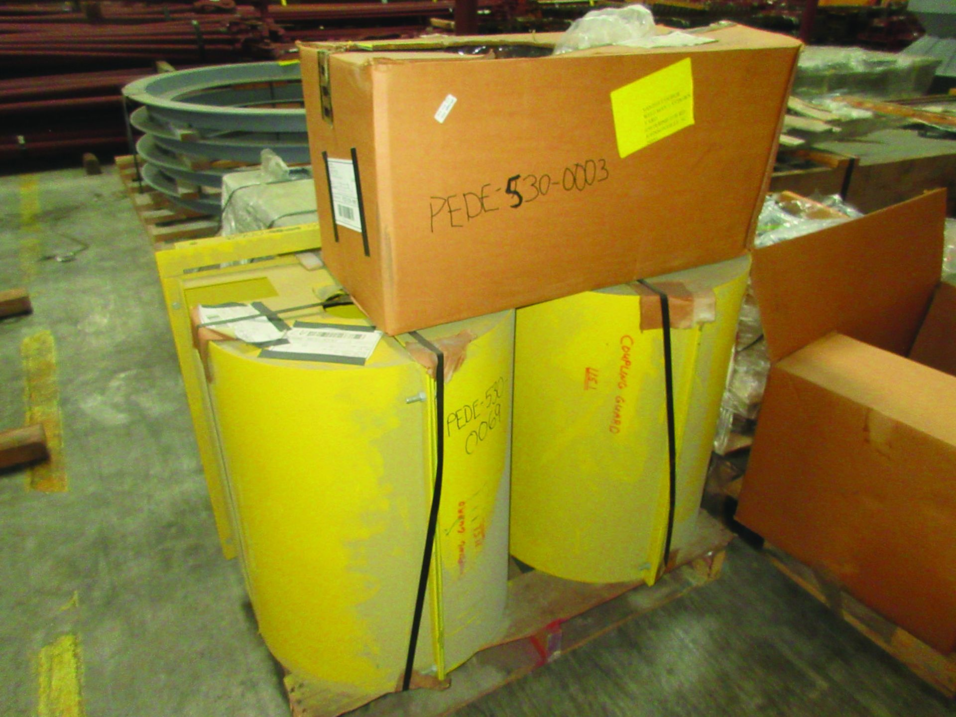 LOT OF ASSORTED PARTS: BARSETS, SHAFT COUPLINGS, COUPLING GUARDS, AND MORE, GRID A7 - Image 3 of 16