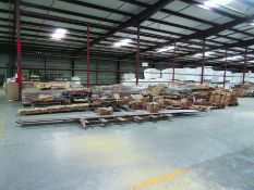 ***BEGIN LOCATION: EGG FARM RD*** LARGE LOT OF STRUCTURAL STEEL: BRACING, ROD, GRID C4