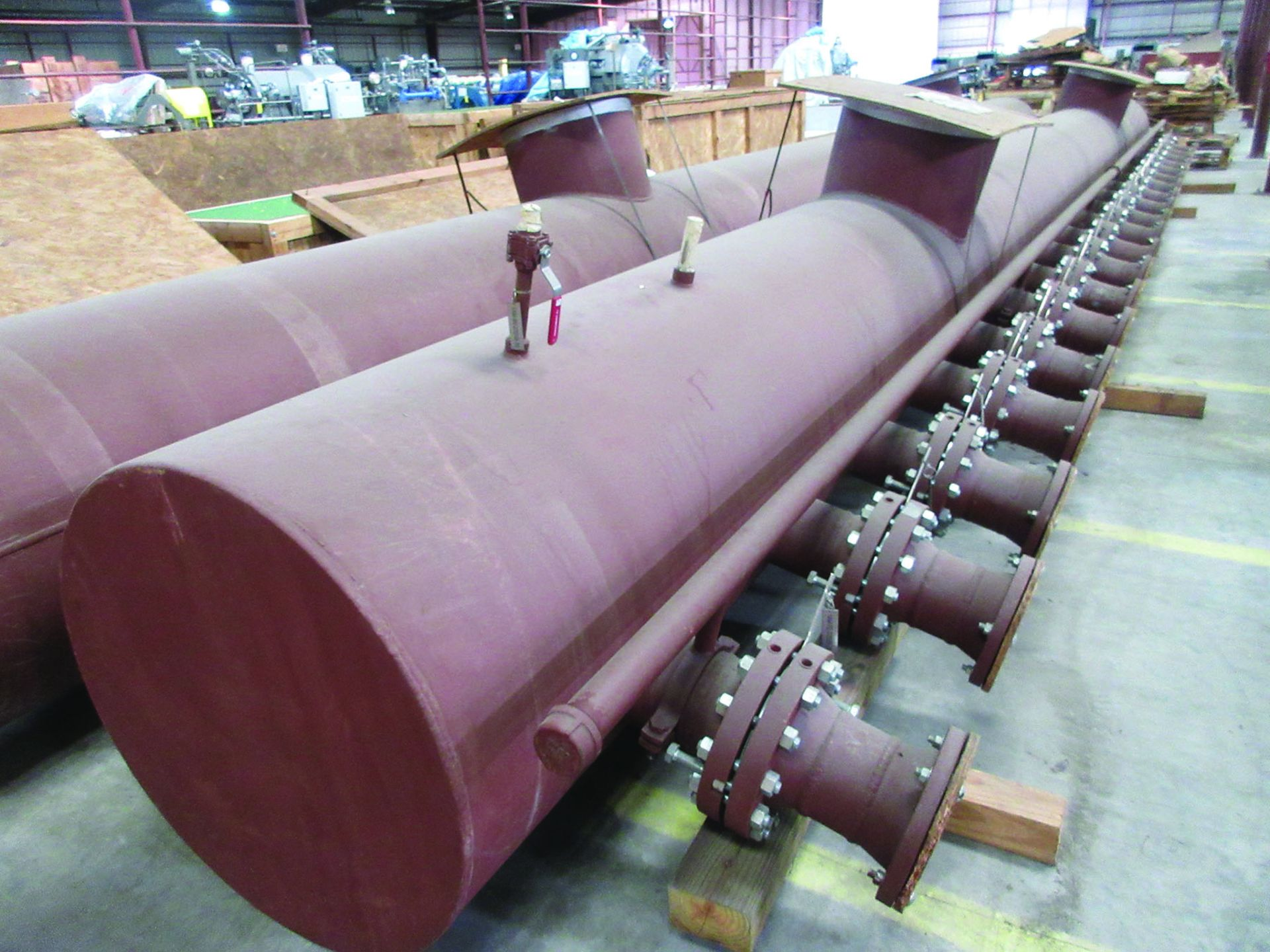 (2) 32'' X 39'' AMMONIA/AIR HEADERS & DIFF. PRESSURE INDICATOR MOUNTING PIPE, 8,600 LB EACH, ALSO - Image 2 of 9