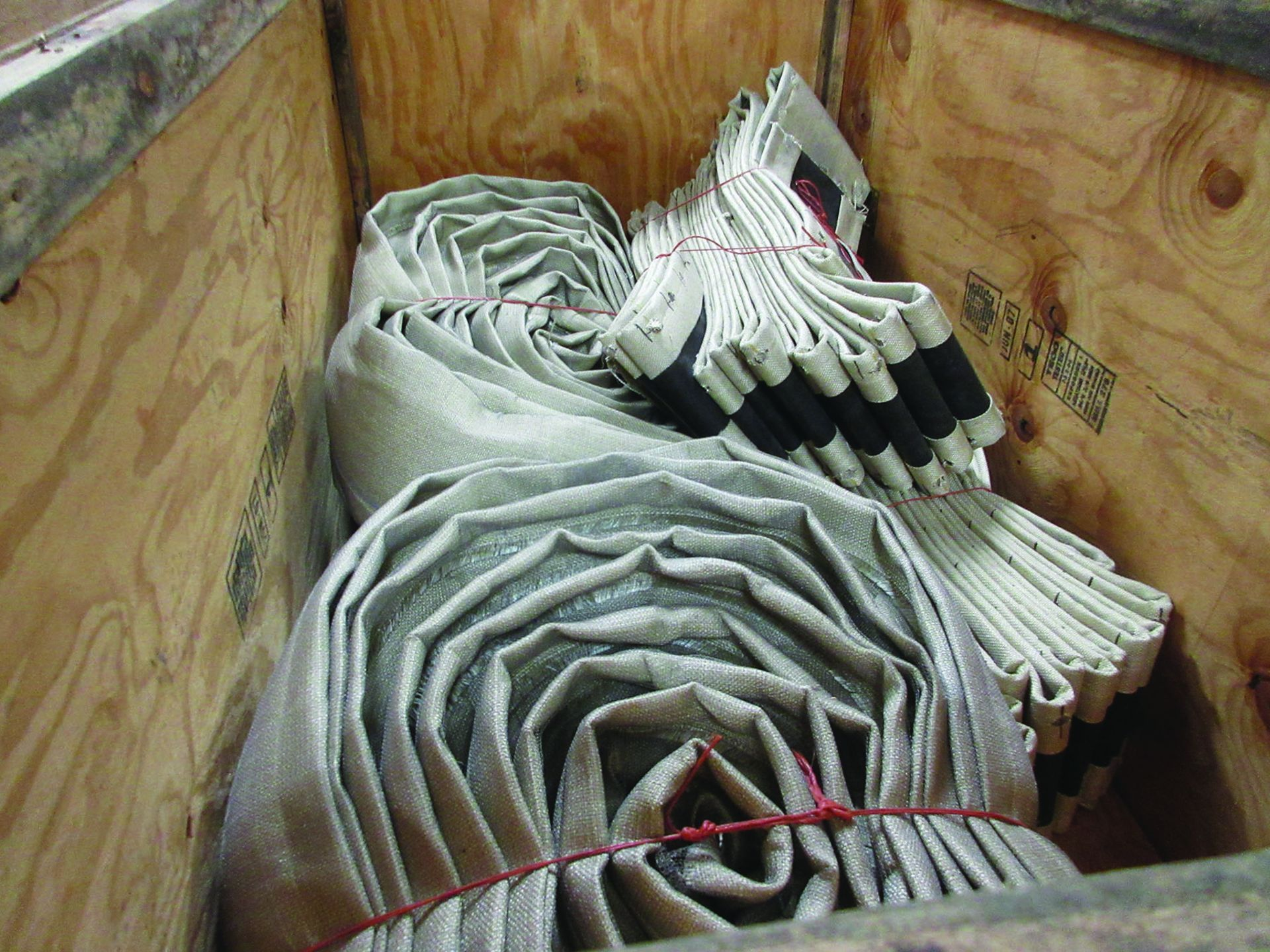 PALLET OF GAS DUCT TO AIR HEATER PRE FAB STEEL, OTHER FAB STEEL, V-BELTS, BELLOWS, GRID G8 - Image 6 of 6