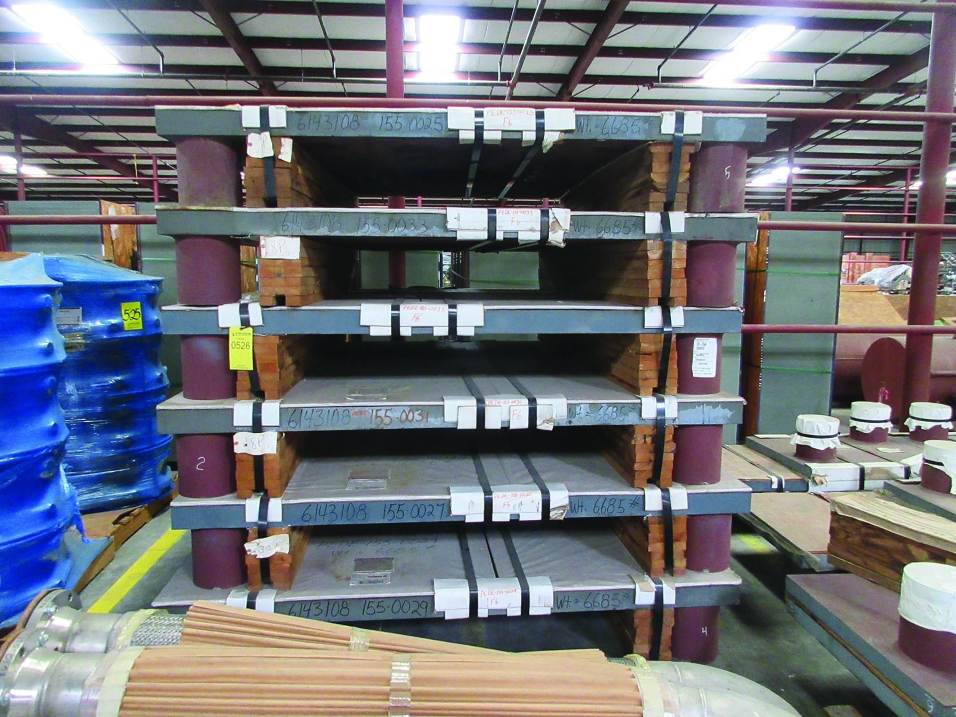 (6) SOLE PLATES, 6,685 LBS. EACH, OTHER ASSORTED SOLE PLATES, 4'' ASSORTED BUNDLE OF PIPE, ANGLE - Image 2 of 14