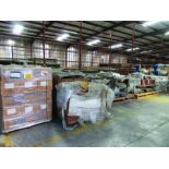 ASSORTED STEEL: PLATES, BEAMS, ROOF/SIDING SUPER RIB CLOSURES, BRACKETS, SPRING CANS, STEEL BRACING,