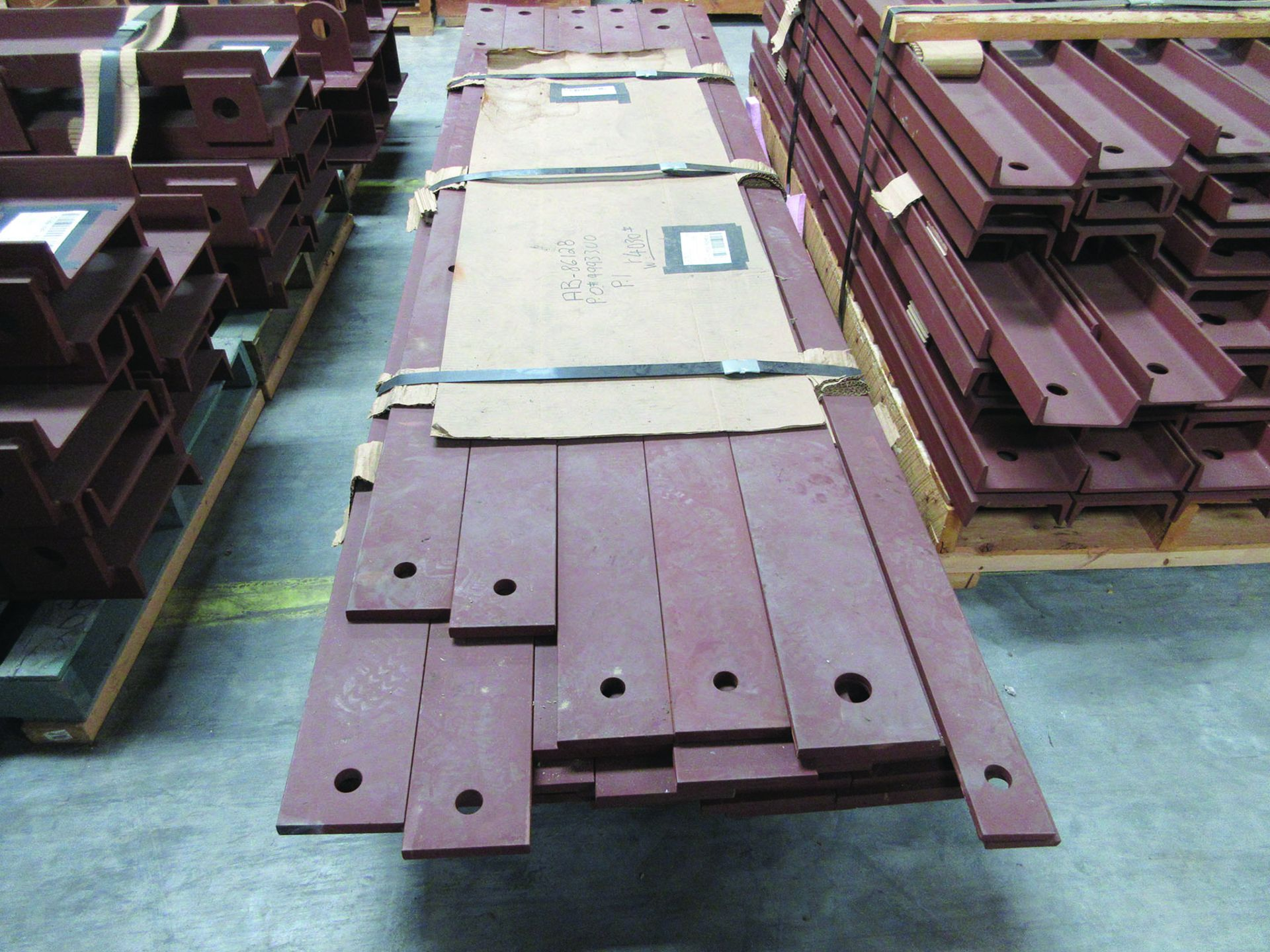 SUPPORT RODS, STEEL CHANNEL, (3) GATES, ASSORTED DAMPERS, LARGEST WEIGHING 16,250 LB., 175'' X 142'' - Image 10 of 12