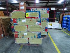 FIBREX INSULATION 4'' X 24'' X 48'' (4) PALLETS, COUPLING GUARDS, (72) 24'' STEEL LOCK COUPLINGS,