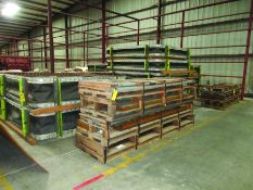 PALLET OF GAS DUCT TO AIR HEATER PRE FAB STEEL, BELLOW FRAMES, PALLETS OF PRE FAB STEEL, GRID G8