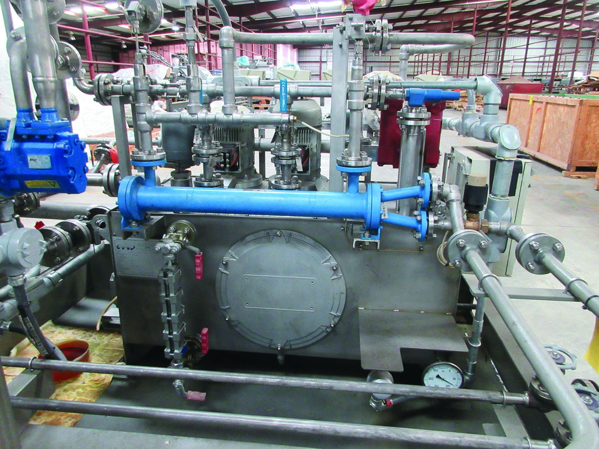 BOILER FEEDWATER BOOSTER PUMP SLED, GE 3,000 HP INDUCTION MOTOR 3585 RPM, 6600 VOLTS, 8313S FRAME, - Image 4 of 13