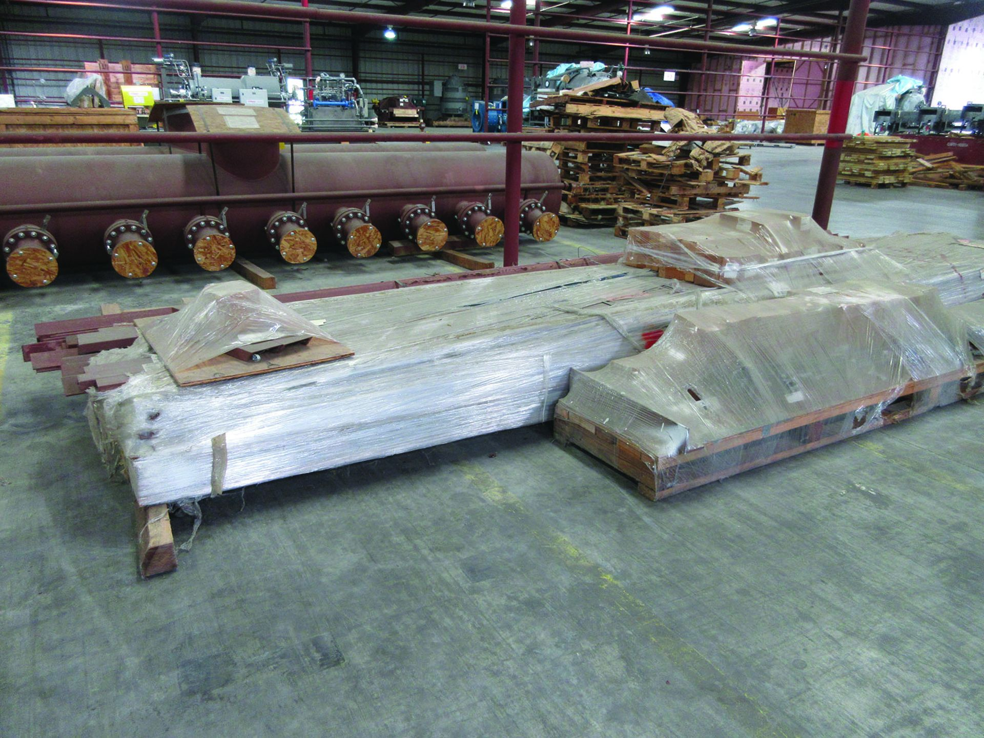 (6) SOLE PLATES, 6,685 LBS. EACH, OTHER ASSORTED SOLE PLATES, 4'' ASSORTED BUNDLE OF PIPE, ANGLE - Image 10 of 14