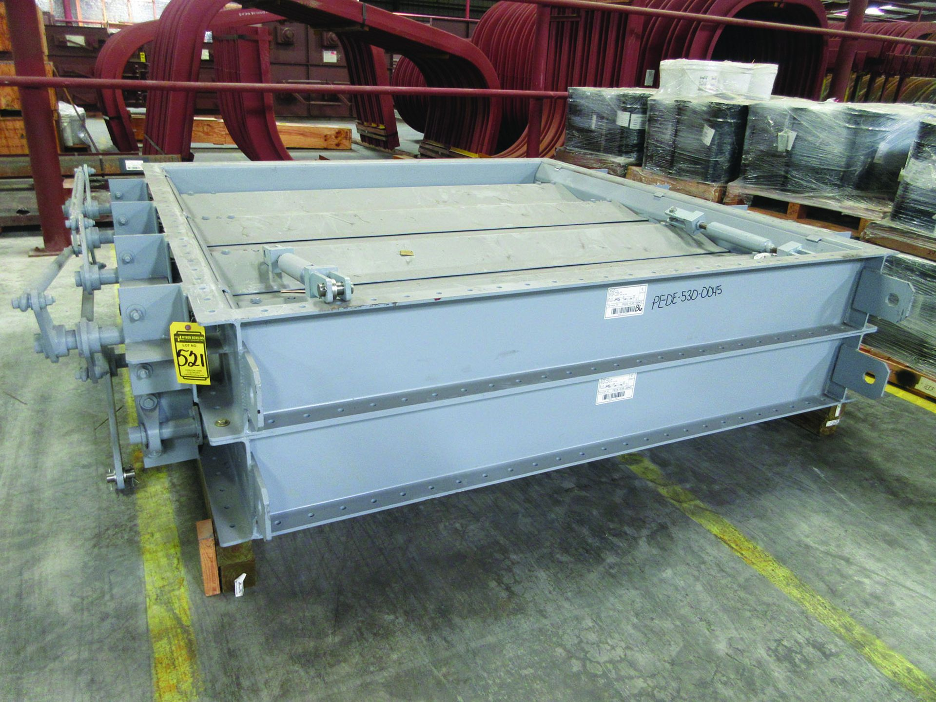 (4) FANS, MODEL 33VR1B-54, WEIGHTS: 4,122 LB. EACH, DIMENSIONS: 132'' X 45'' X 79'', ALSO RODS, - Image 4 of 10