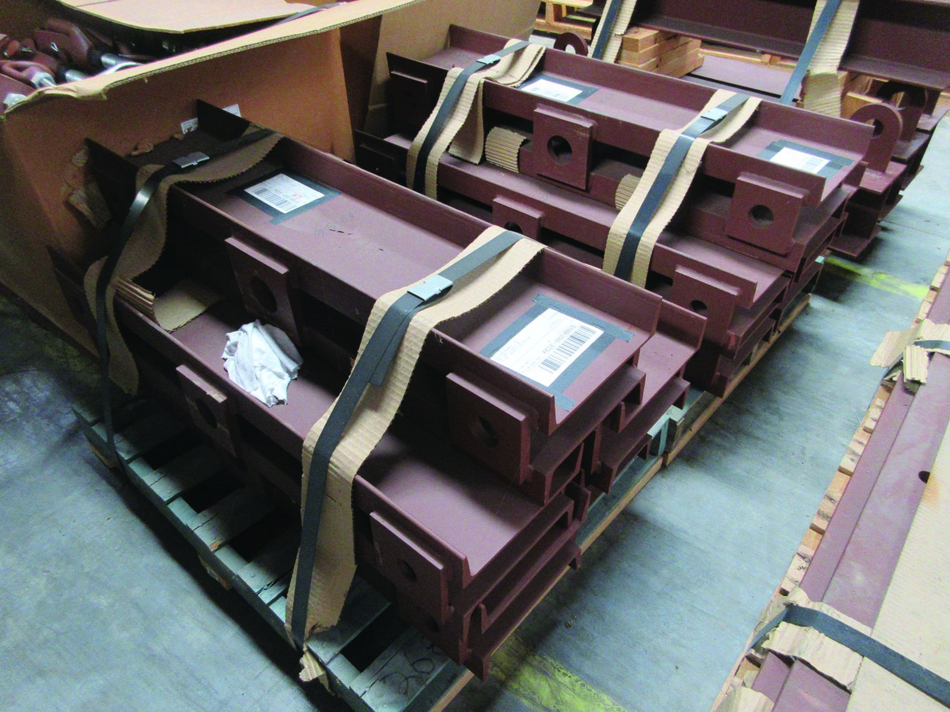 SUPPORT RODS, STEEL CHANNEL, (3) GATES, ASSORTED DAMPERS, LARGEST WEIGHING 16,250 LB., 175'' X 142'' - Image 9 of 12