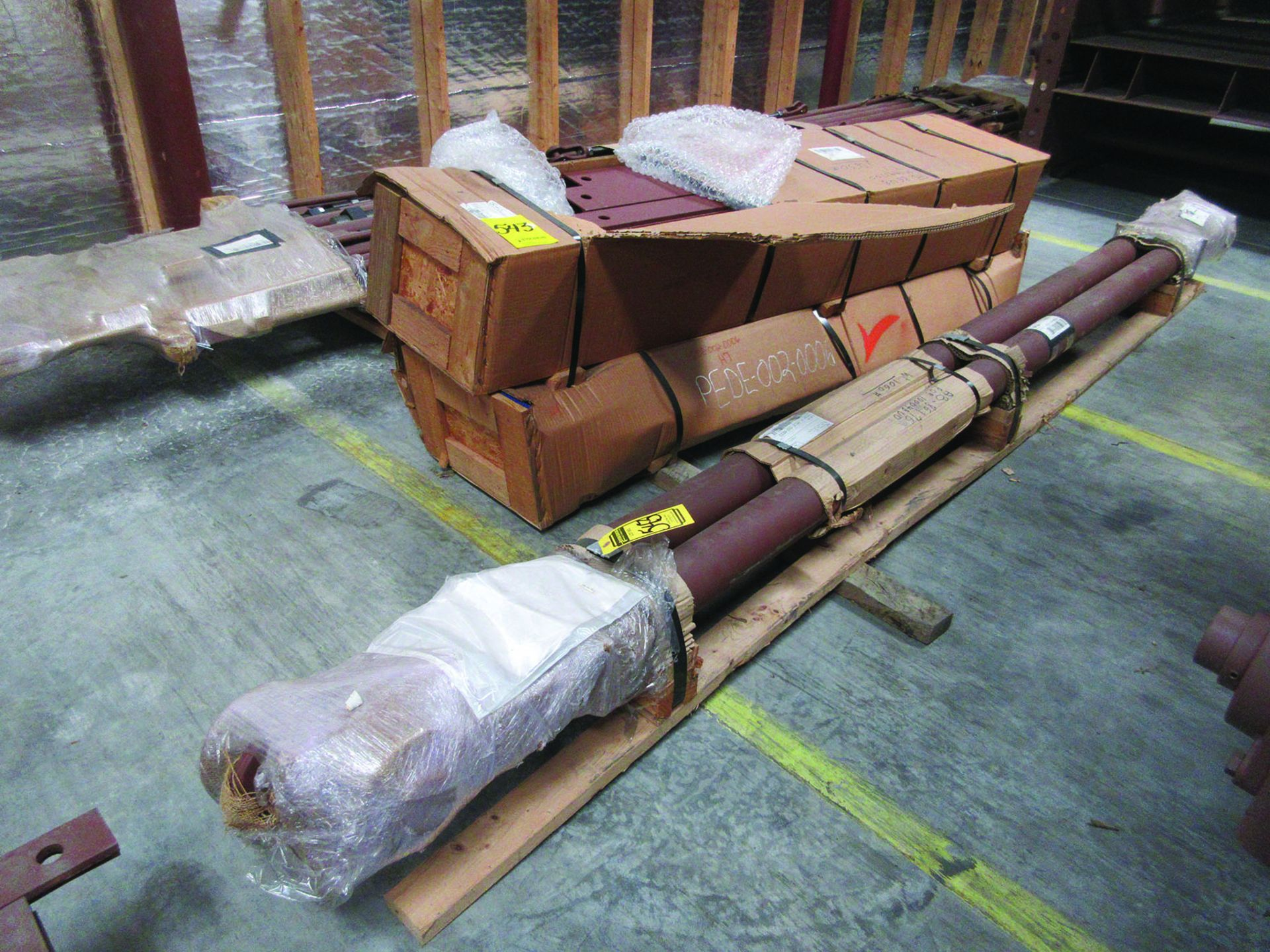 SUPPORT RODS, STEEL CHANNEL, (3) GATES, ASSORTED DAMPERS, LARGEST WEIGHING 16,250 LB., 175'' X 142'' - Image 8 of 12