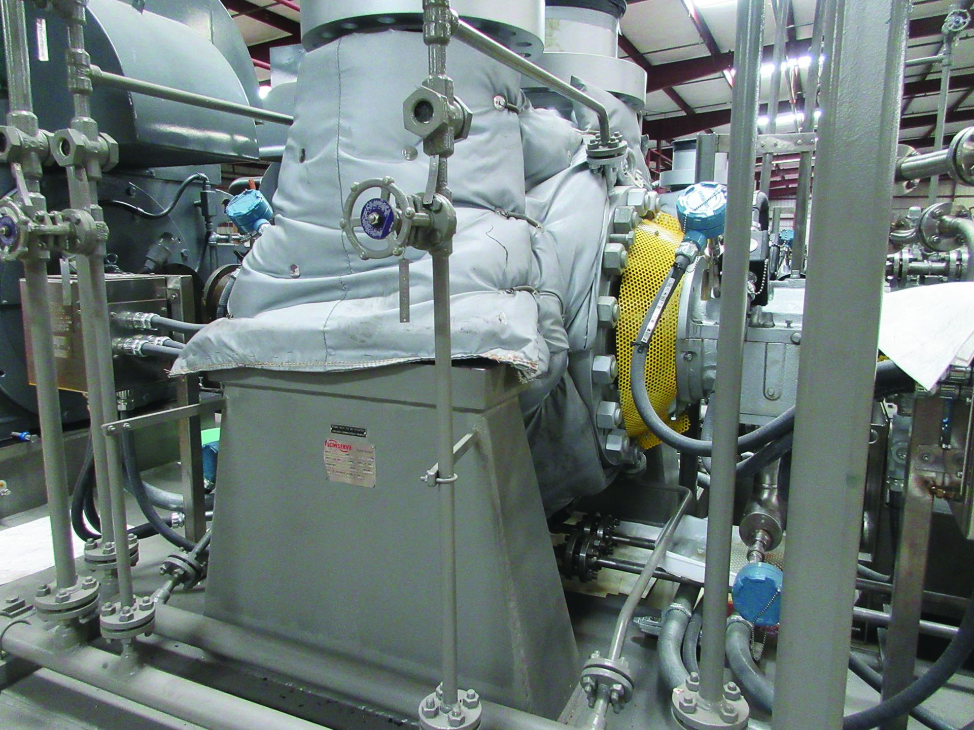BOILER FEEDWATER BOOSTER PUMP SLED, GE 3,000 HP INDUCTION MOTOR 3585 RPM, 6600 VOLTS, 8313S FRAME, - Image 5 of 11
