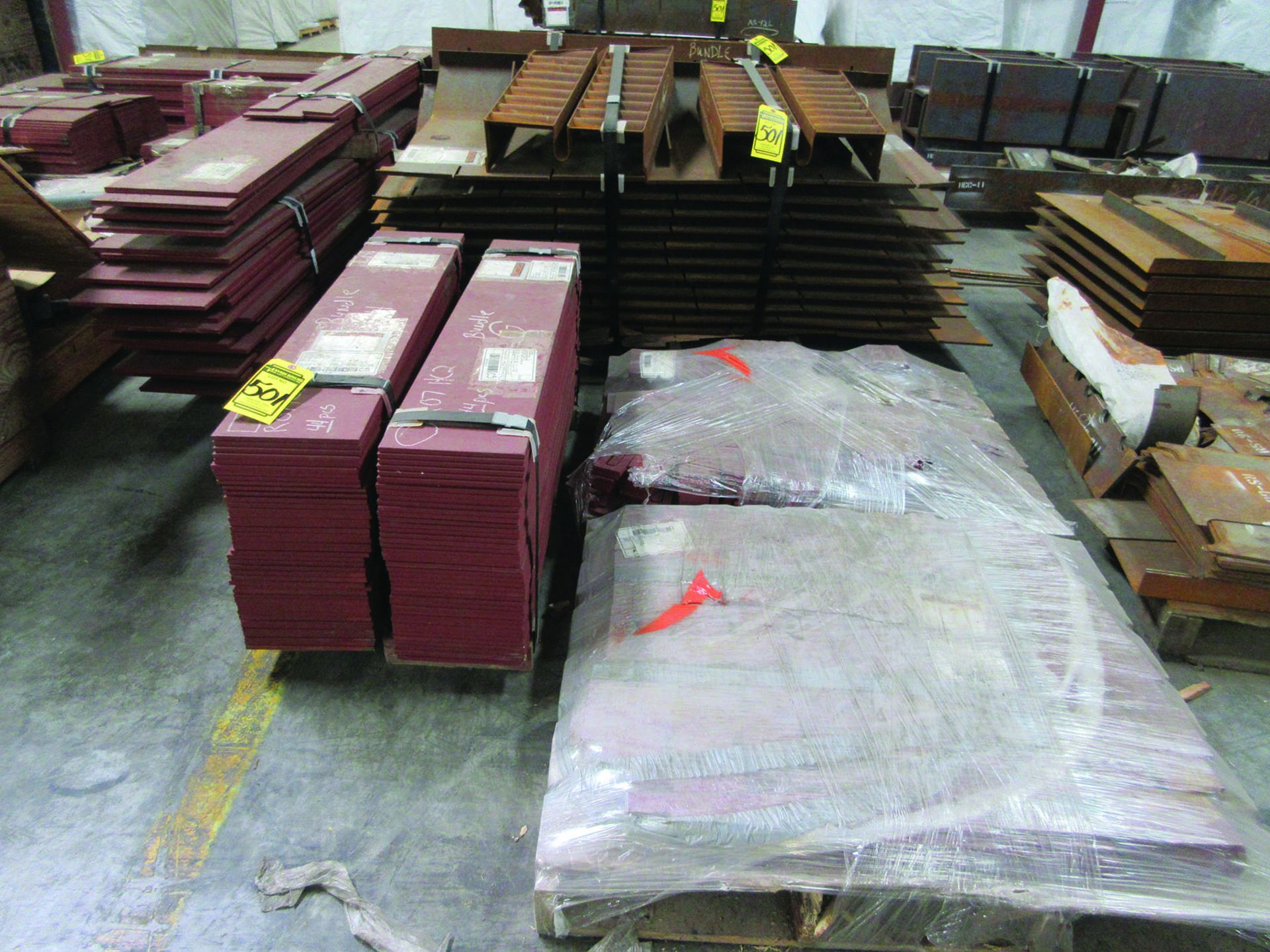 LARGE LOT OF STRUCTURAL STEEL & SPRING CANS, ANGLE IRON, PLATE BRACKETS, BRACING, GRID C5 - Image 20 of 21